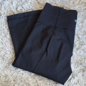 LULU LEMON (TALL) Flare Yoga Pants - Black